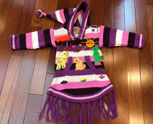 Child Arpillera Handmade Peruvian Dress