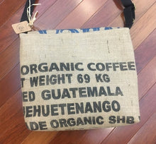 Load image into Gallery viewer, Burlap Crossbody Coffee Bag