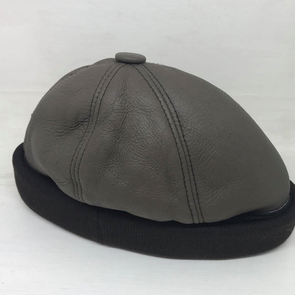 Leather Beanie