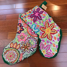 Load image into Gallery viewer, Hand Embroidered Christmas Stocking