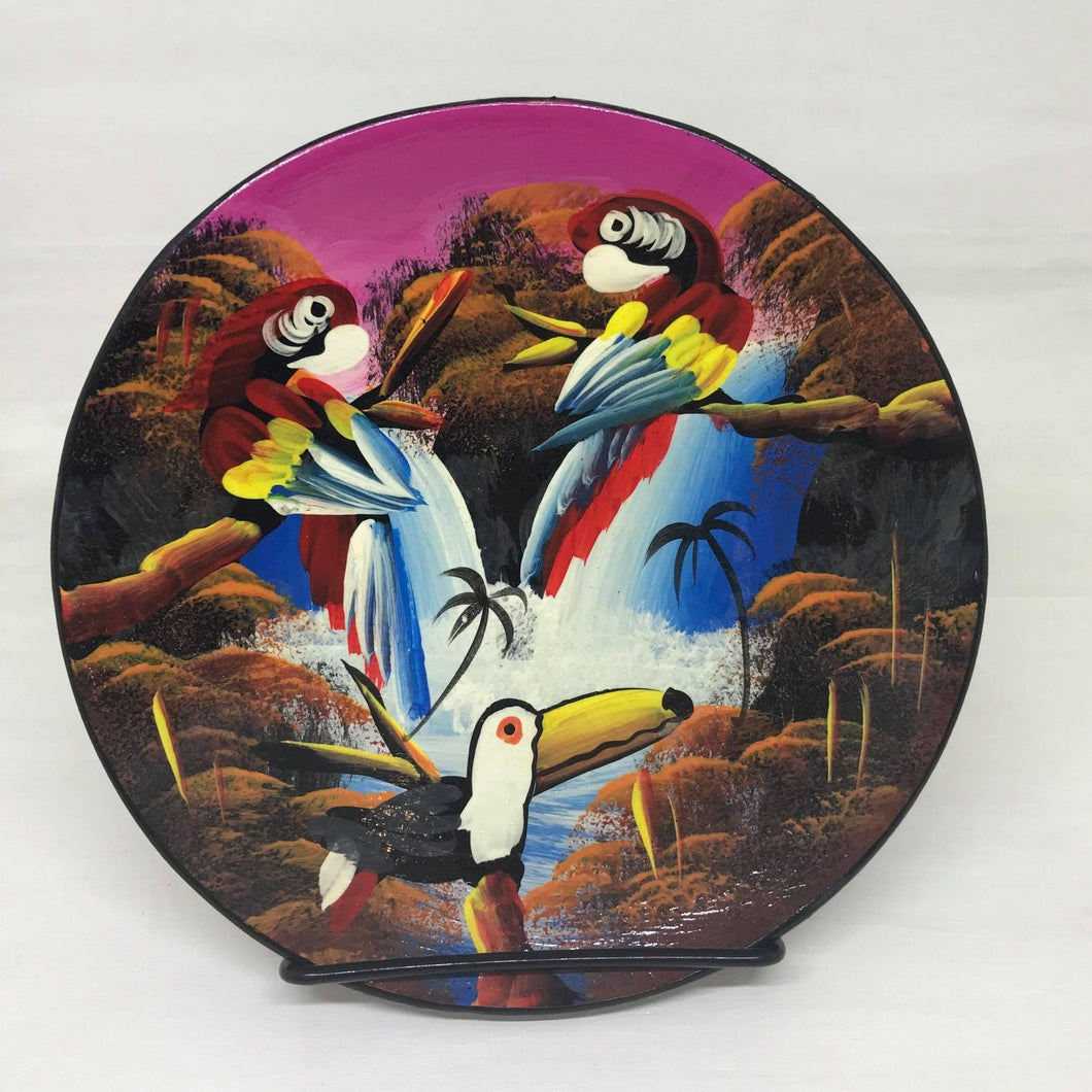 Hand Painted Amazonian Terracotta Plate