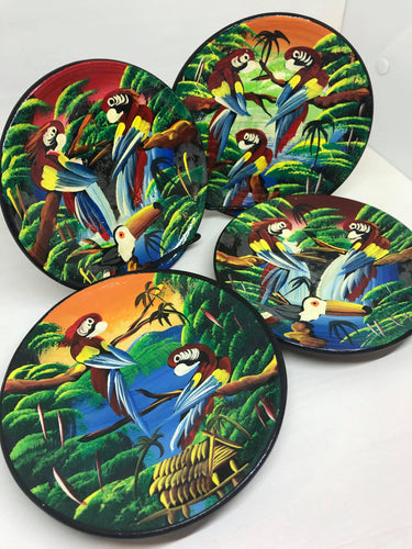 Hand Painted Amazonian Terracotta Plates
