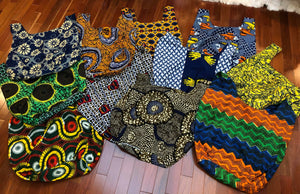 Reusable African Print Shopping Bags