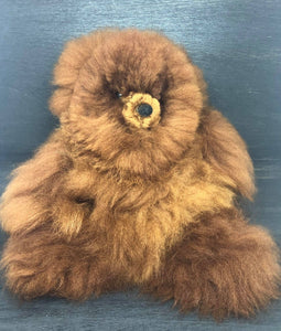 Alpaca Fur Teddy Bear 13""