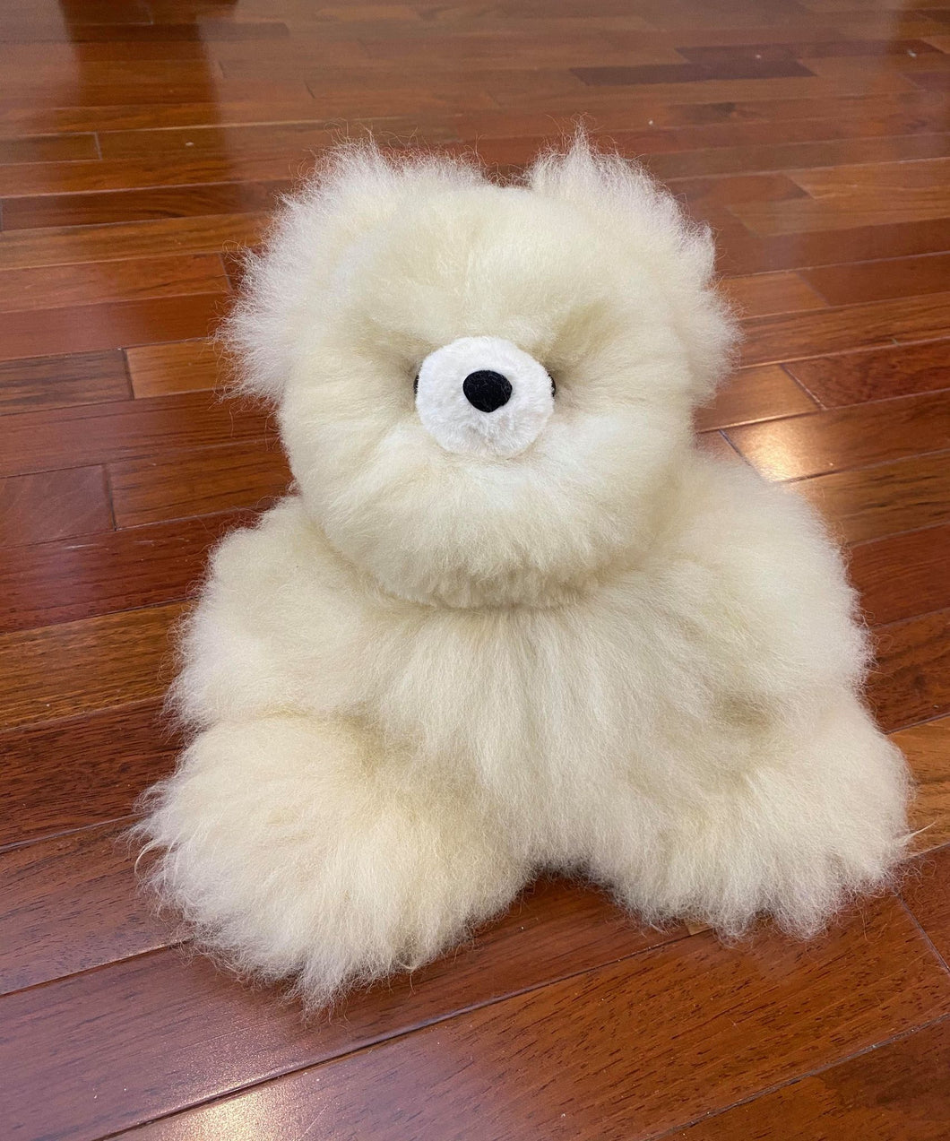 Baby Alpaca Tan Teddy Bear 14