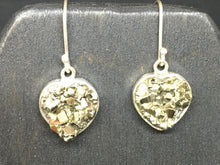 Load image into Gallery viewer, Pyrite Heart Necklace and Earring Set