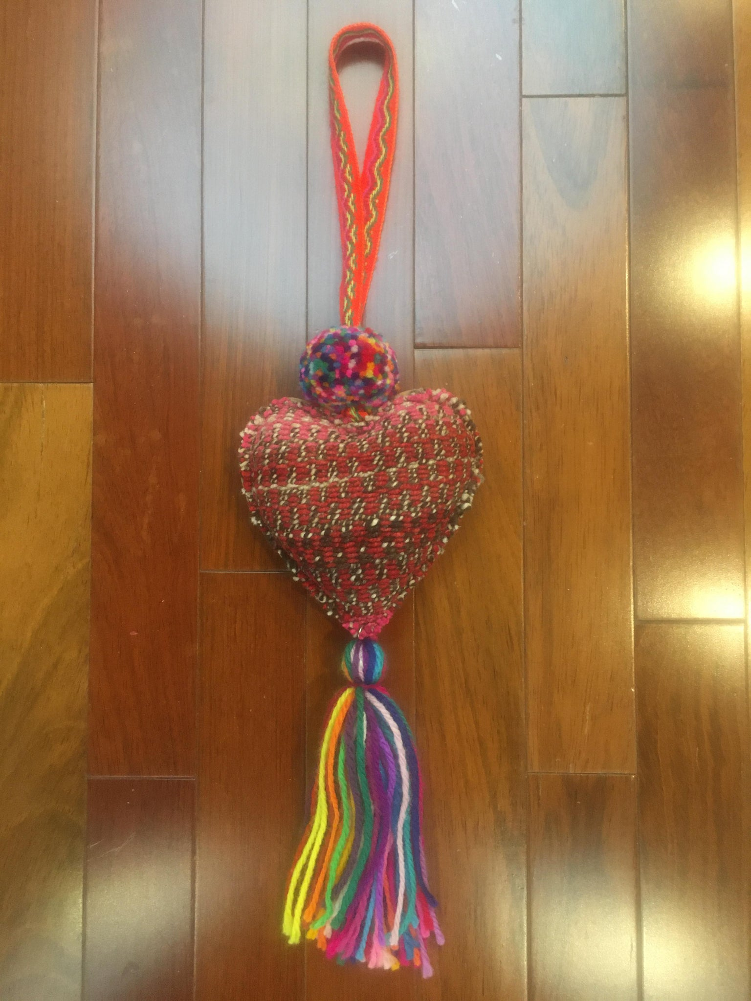 Cuzco Manta Heart Decoration