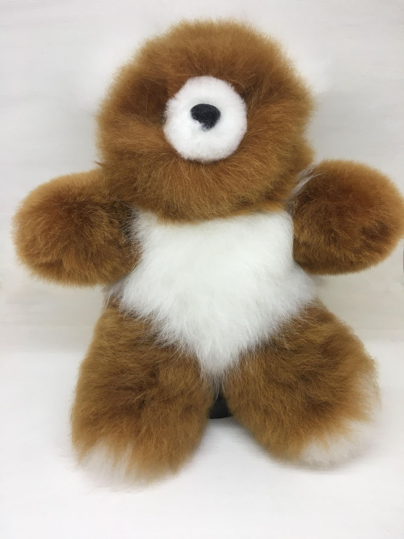 Alpaca Fur Teddy Bear 12""