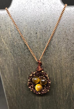 Load image into Gallery viewer, Tiger Eye Bird Nest Necklace