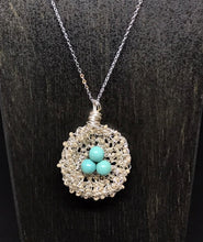 Load image into Gallery viewer, Magnesite Bird Nest Necklace
