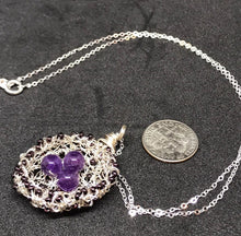 Load image into Gallery viewer, Amethyst Bird Nest Necklace