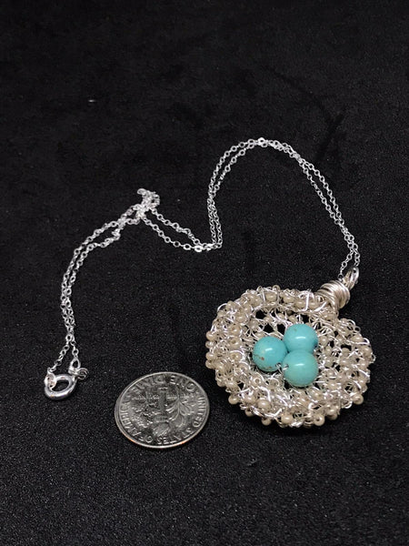 Magnesite Bird Nest Necklace