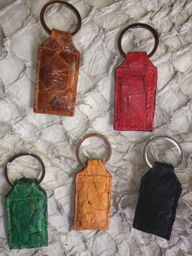 Fish Skin Leather Key Chain