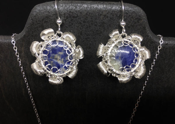 Sodalite Necklace and Earring Set