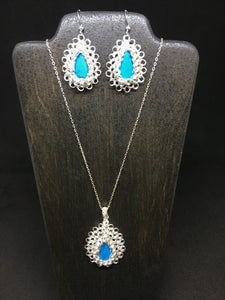 Turquoise Necklace and Earring Set