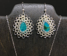 Load image into Gallery viewer, Chrysocolla Necklace and Earring Set