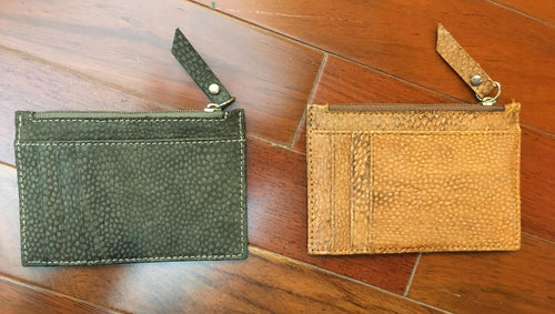 Genuine Mahi Mahi Fish Leather Zipper Wallets