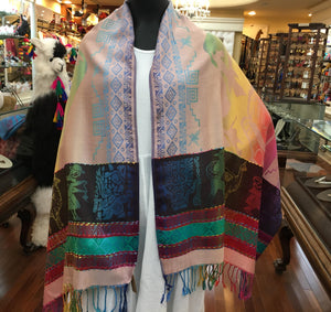 Multi-Color Cotton Blend Andean Scarf