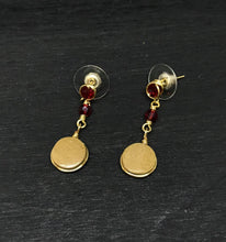 Load image into Gallery viewer, Garnet Crystal Earrings