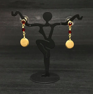 Garnet Crystal Earrings