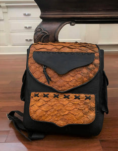 Genuine Arapaima Fish Leather Backpack