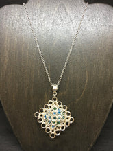 Load image into Gallery viewer, Wire Crocheted Swarovski Necklace and Earring Set
