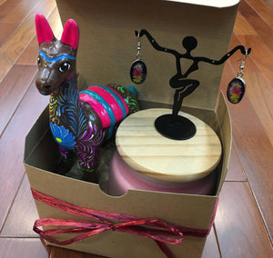 Happy Llama Flower Gift Set