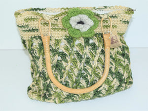 Green and Tan Hemp Bag
