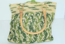 Load image into Gallery viewer, Green and Tan Hemp Bag