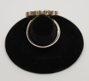 Peruvian Sterling Silver Inlaid Ring
