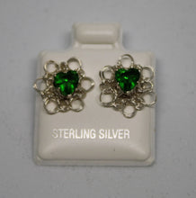 Load image into Gallery viewer, Sterling Silver Wire Crocheted Birthstone Earring Jacket Earrings