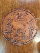 Load image into Gallery viewer, Leather Peruvian Coaster Set