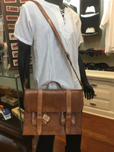 Load image into Gallery viewer, Light Brown Leather Briefcase