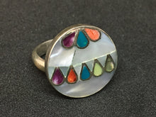 Load image into Gallery viewer, Peruvian Sterling Silver Inlaid Ring