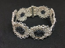 Load image into Gallery viewer, Sterling Silver Hand-Crocheted Bracelet