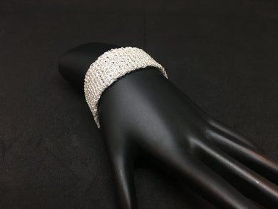 Sterling Silver Hand-Crocheted Bracelet