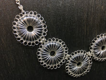 Load image into Gallery viewer, Sterling Silver Hematite Donut Necklace