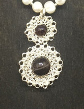 Load image into Gallery viewer, Sterling Silver Wire Crocheted Necklace