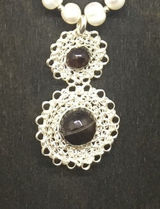 Sterling Silver Wire Crocheted Necklace