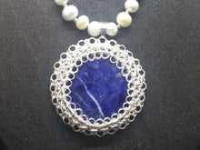 Load image into Gallery viewer, Sterling Silver Wire Crocheted Semi-Precious Stone Necklace