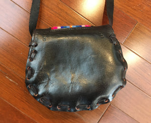 Handmade Leather Peruvian Purse