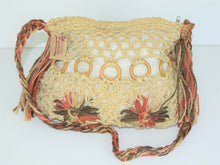 Load image into Gallery viewer, Tan and Pink Hemp Bag