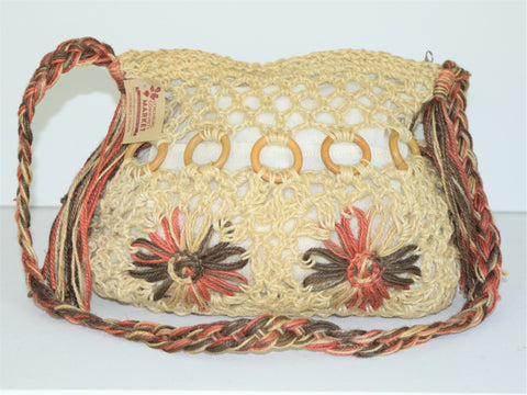 Tan and Pink Hemp Bag