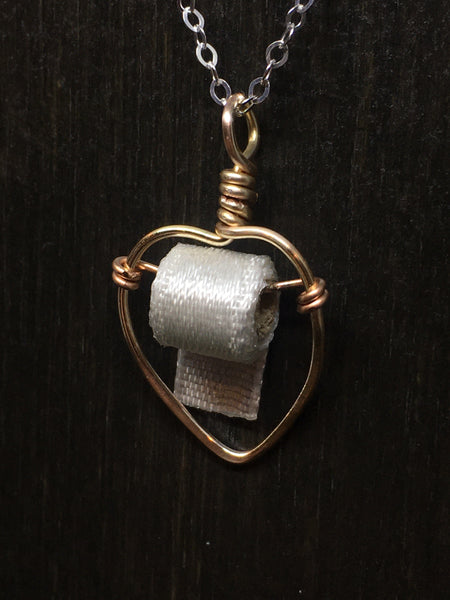 Toilet Paper Heart Necklace
