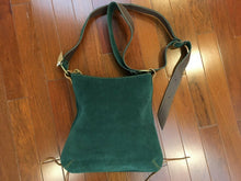 Load image into Gallery viewer, Green Leather Shoulder Bag