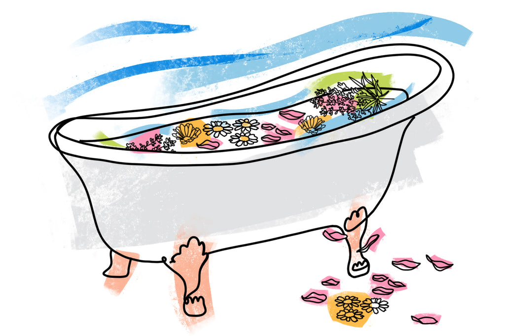 How To: Create A Healing Herb & Flower Bath