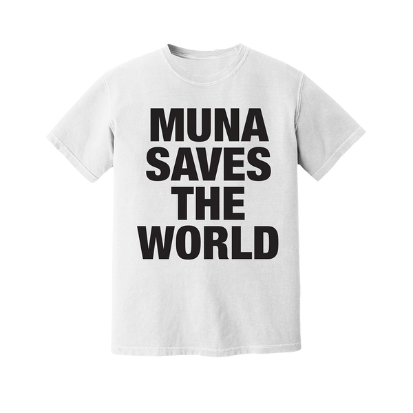 SAVES THE WORLD WHITE TEE & DIGITAL ALBUM BUNDLE
