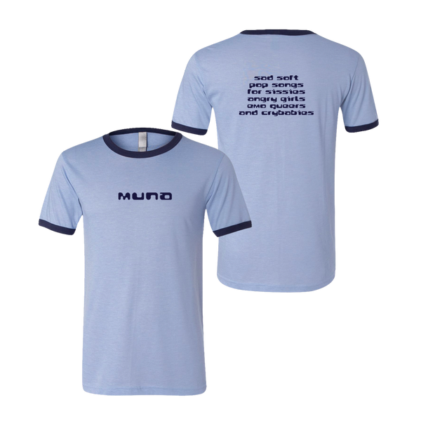 "MUNA ""SAD SOFT POP SONGS"" BLUE RINGER TEE"