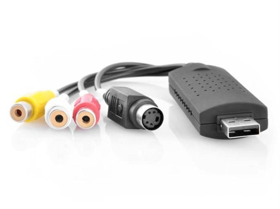Video van VHS naar PC - USB Video PC Grabber - VHS (Tulp) Naar DVD Converter - Videoband Digitaliseren - VHS Digitaal - Kadotip