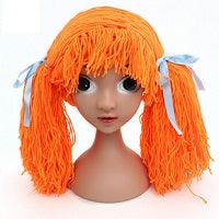 How to make a yarn wig?